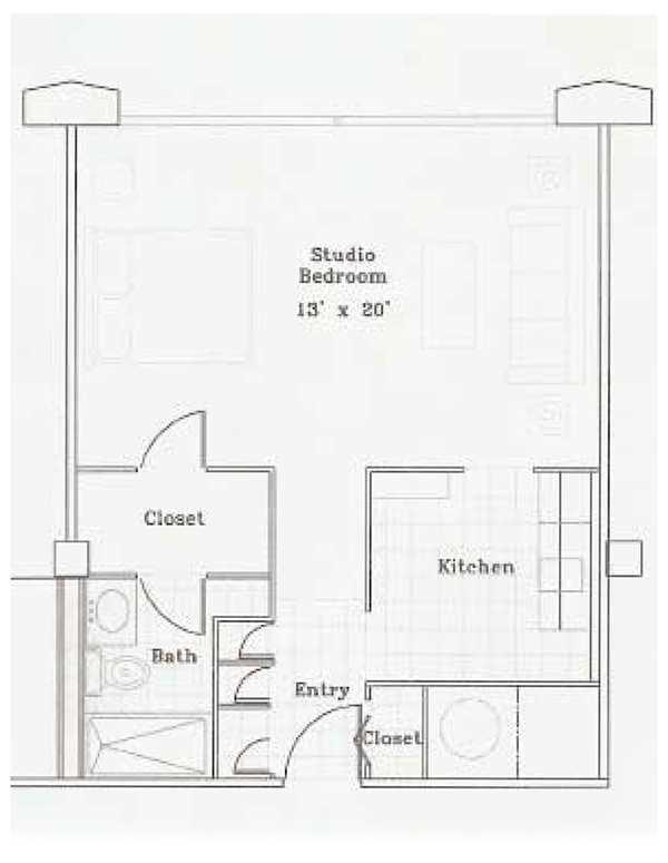 Independent Living - Studio Apartment