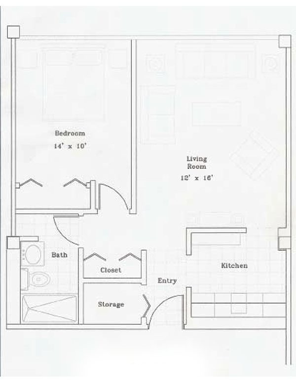 Independent Living - 1BR Apartment